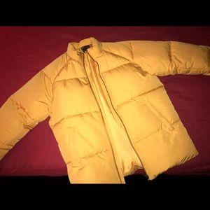ASOS Yellow Puffer Coat